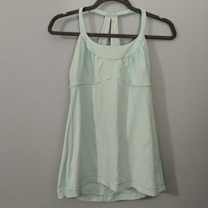 Lululemon - Pale aqua blue strappy tank - 8